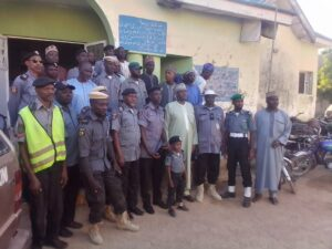 Gen. Sani with Commandant of the Guards in a group Photograph