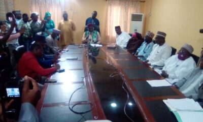 Professor Garba Sheka addressing Journalists