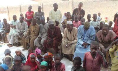 The community during their interactive session with Nigerian Tracker